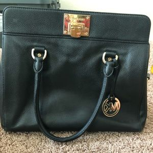 MK leather satchel and Matching wallet